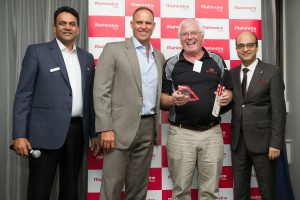 MAH_1103 L t R Satish Chandra, Sales Manager Ag, Matthew Hayden AM, Chris Durery, CD Tractors Muchea, Joydeep Moitra Vice President International Op
