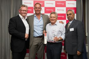 MAH_1115 L t R Russell Thiele, Sales Manager Auto MAAPL, Matthew Hayden AM, Ken Mills, Kingaroy, QLD, Pravin Shah, President Automotive M&M Ltd